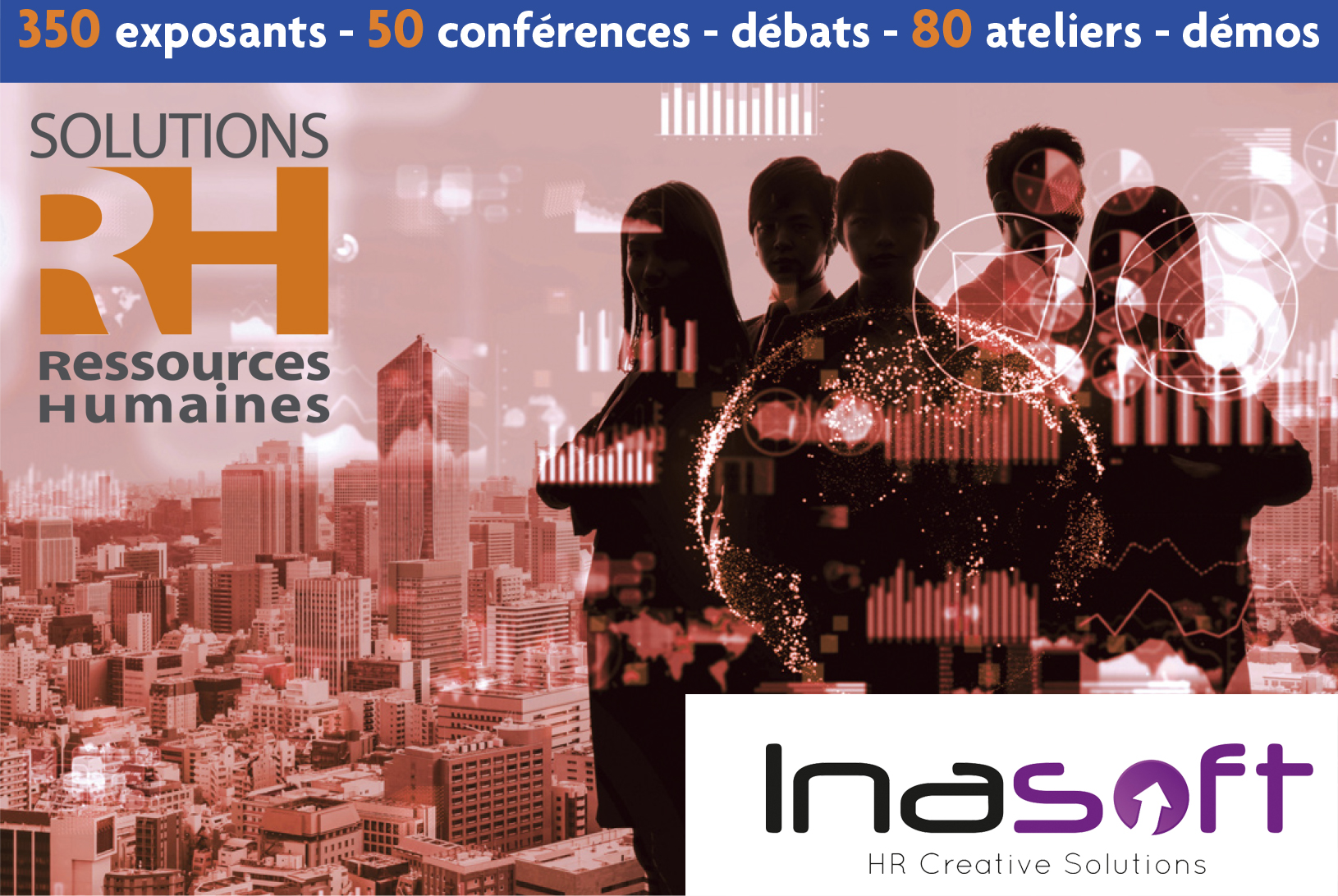 Inasoft exposera au Salon « Solution RH 2020 » à Paris les 17, 18 et 19 mars