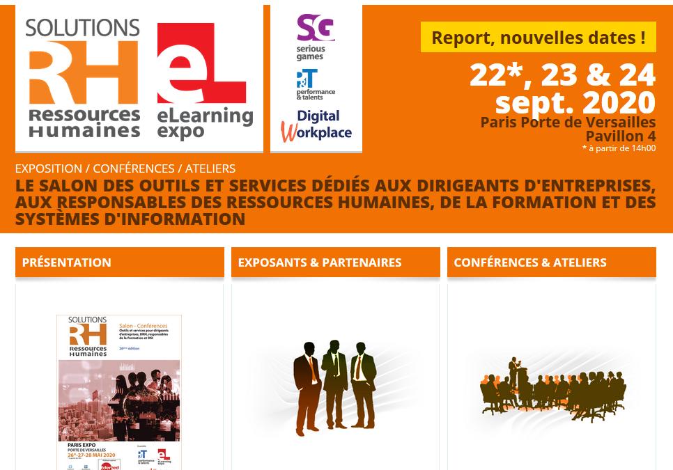"""Inasoft exposera au Salon """"Solution RH 2020"""" à Paris les 22, 23 et 24 septembre prochain"""