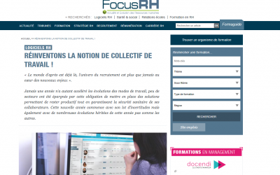 Inasoft en interview dans FOCUS RH